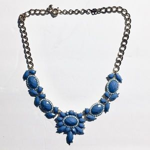 J. Crew Periwinkle Blue Statement Necklace